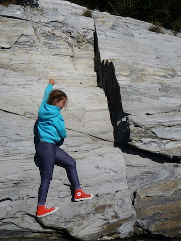 Lucy on a cliff