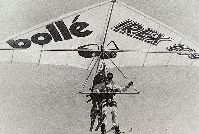 Bill King hang-gliding