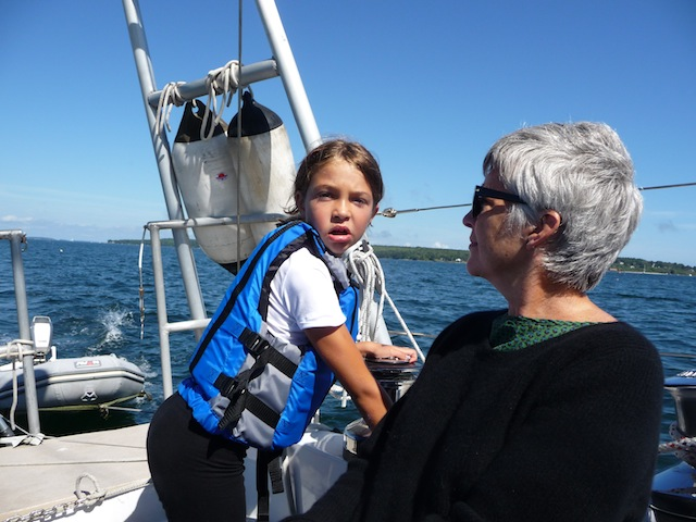 Lucy and Clare aboard Lunacy