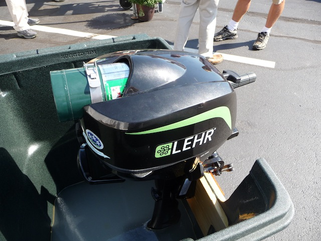 LEHR propane-fueled outboard engine