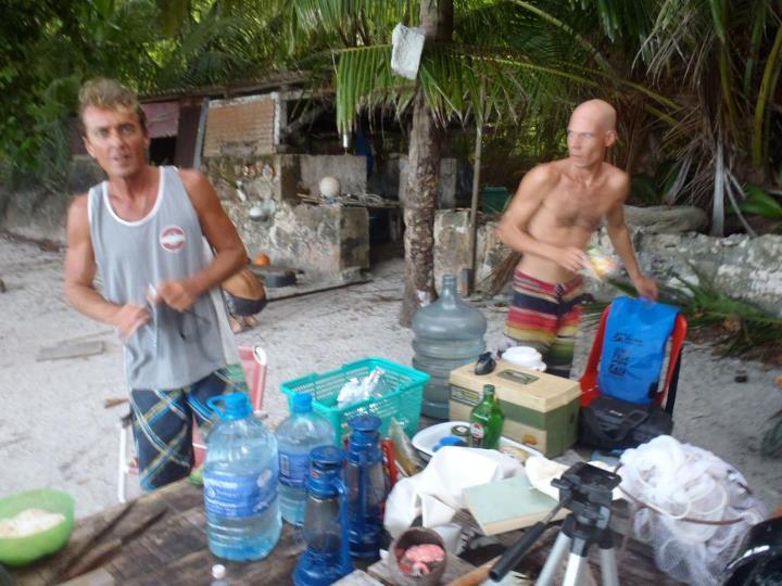 Stefan Pokorny and Sean Terry on Chagos