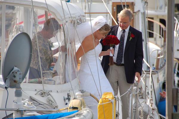 Melanie Neale's wedding day