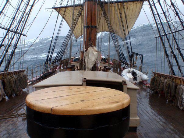 HMS Bounty in heavy weather