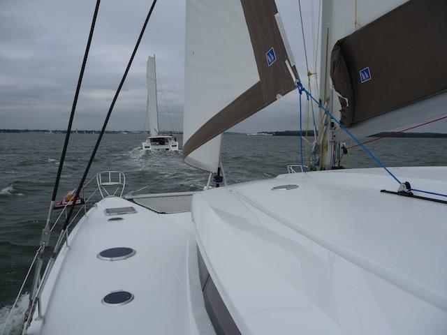 Sanya 57 under sail