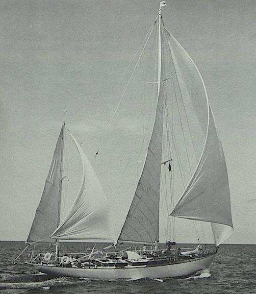 Caribbee under sail