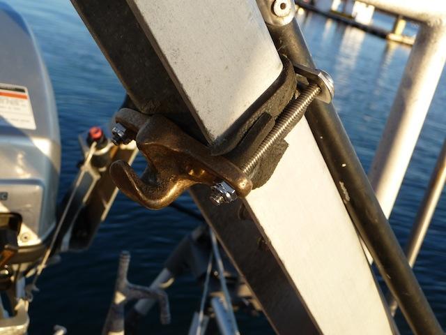 Chain hook for tiller