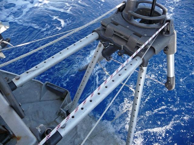Wind vane steering lines