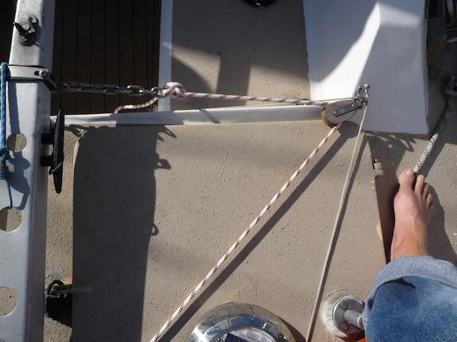 Tiller line installed