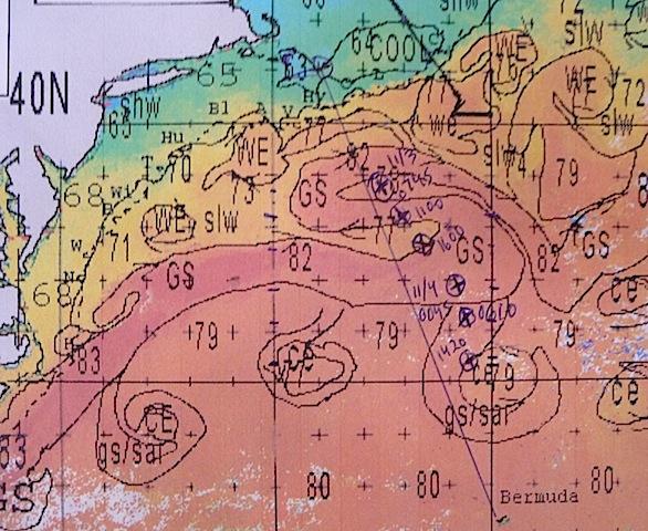 Gulf Stream chart