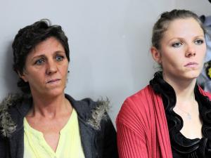 Debbie Calitz and daughter at bail hearing
