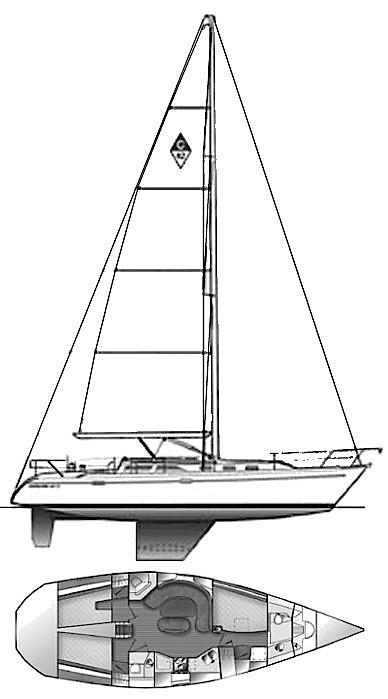 Catalina 42 drawing