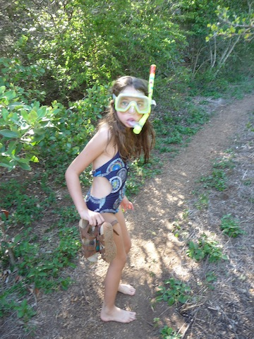 Hiking with snorkel