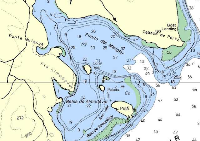Manglar Bay chart, Culebra