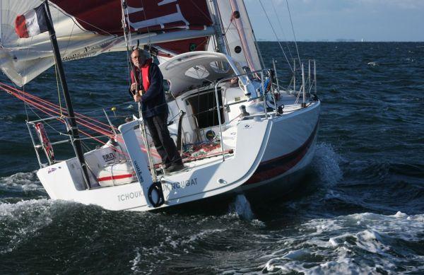 Alain Delord under sail