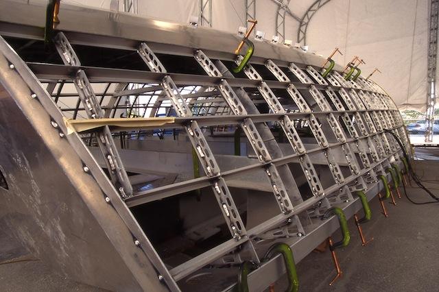 Metal boat frame