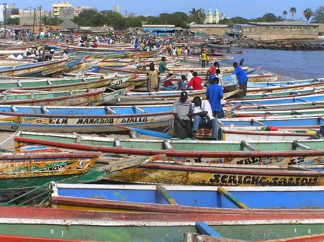 Fishing pirogues at Dakar