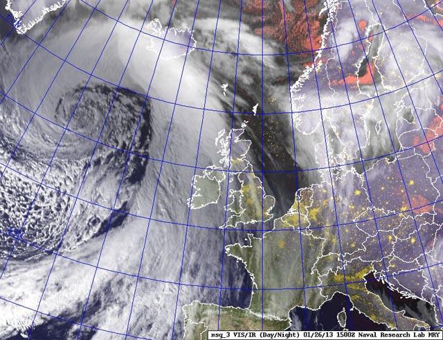 North Atlantic storm Jolle