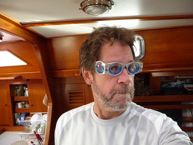 Seasick goggles