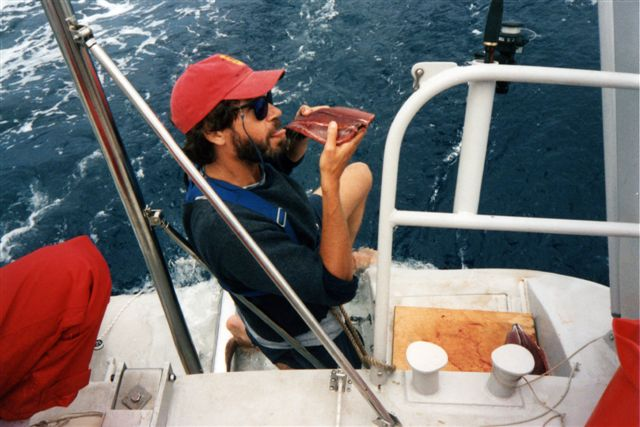Eating fish raw