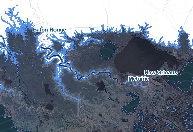 Flooded Louisiana