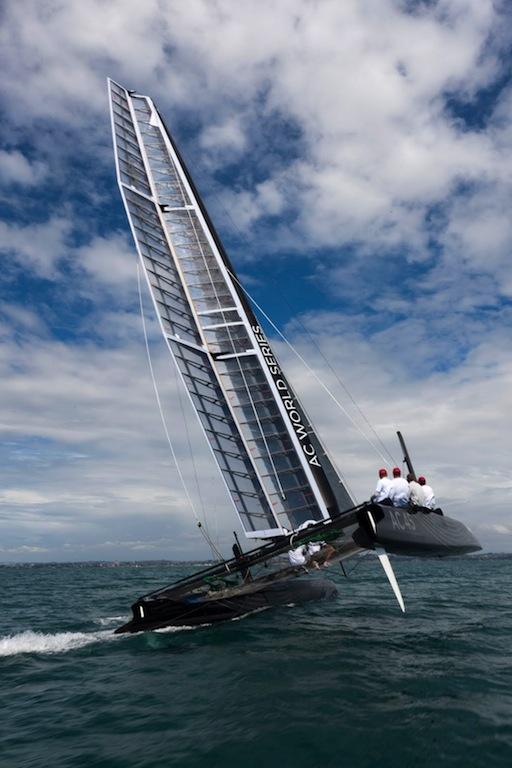 AC45 catamaran under sail