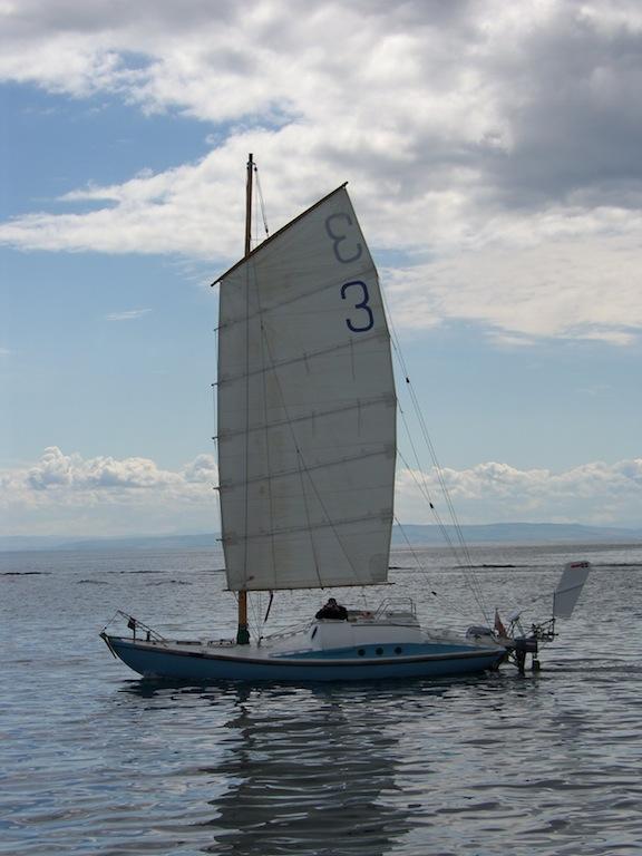 China Blue under sail