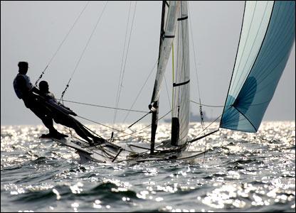 49er under sail