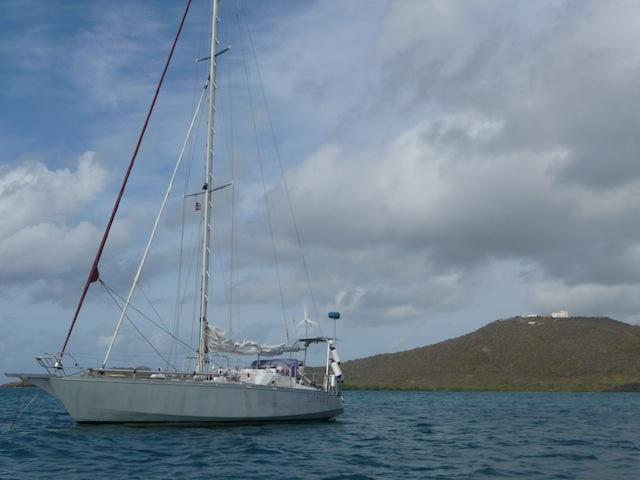 At anchor in Salina del Sur
