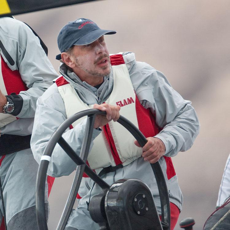 Larry Ellison steering