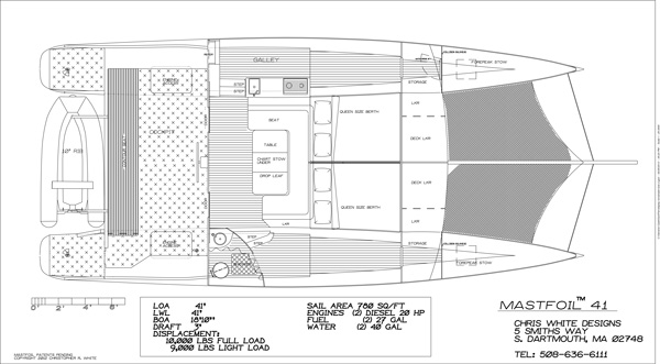 MastFoil 41 interior