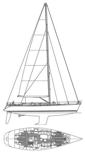 Swan 48 drawing