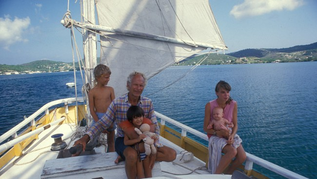 Peter Tangvald and family, 1980s