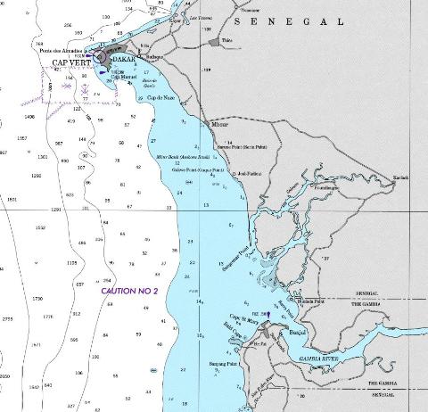Senegal coast chart
