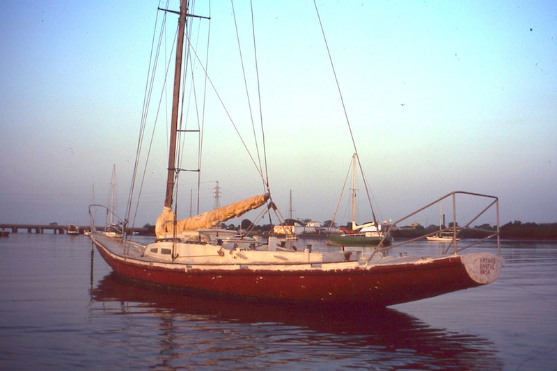 Local yacht in Gambia