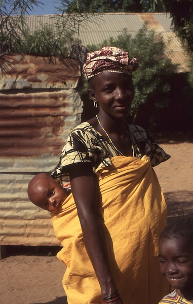 Mother with child, Gambia