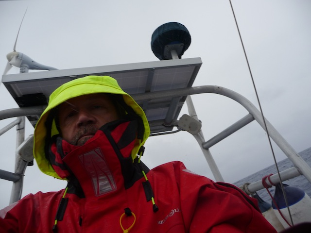 Standing watch in rain