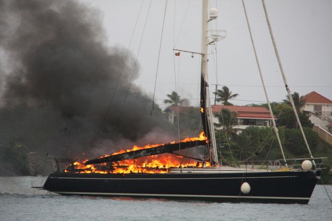 Burning yacht 4