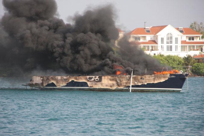 Burned yacht 1