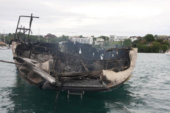 Burned yacht 2