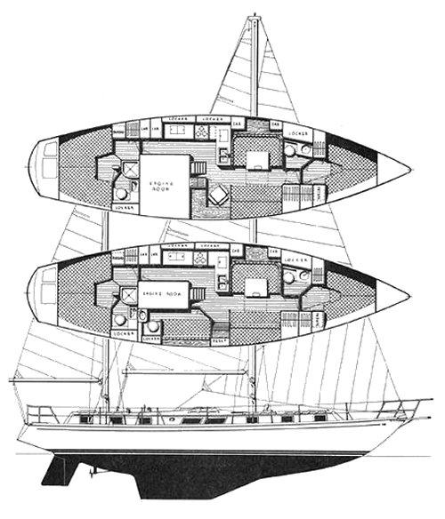Gulfstar 50 drawing