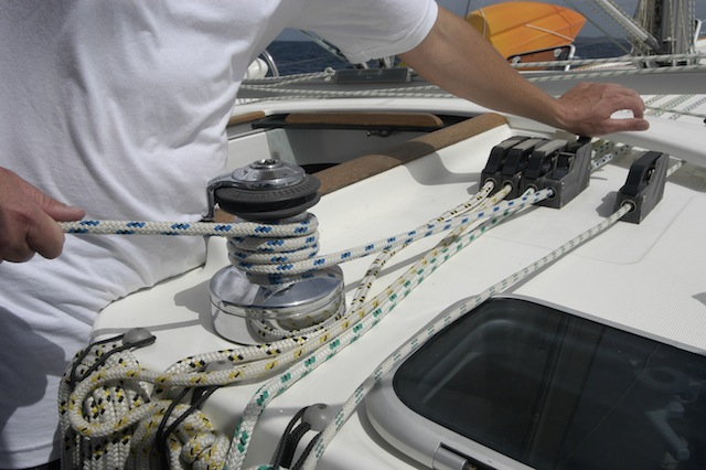 Cockpit winch
