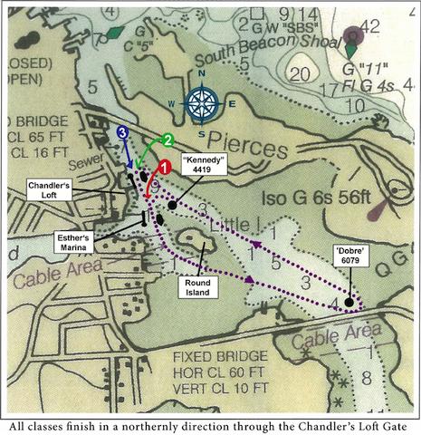 Round Island Regatta chart