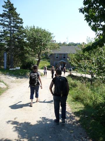 Hikers on Monhegan