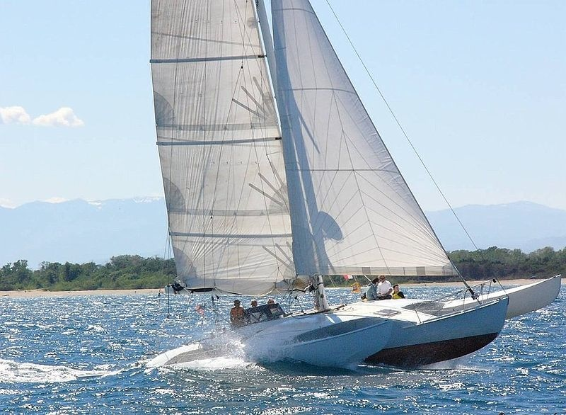 Moxie under sail