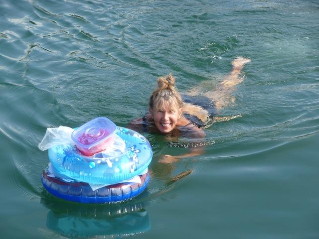 Cousin Laura swimming