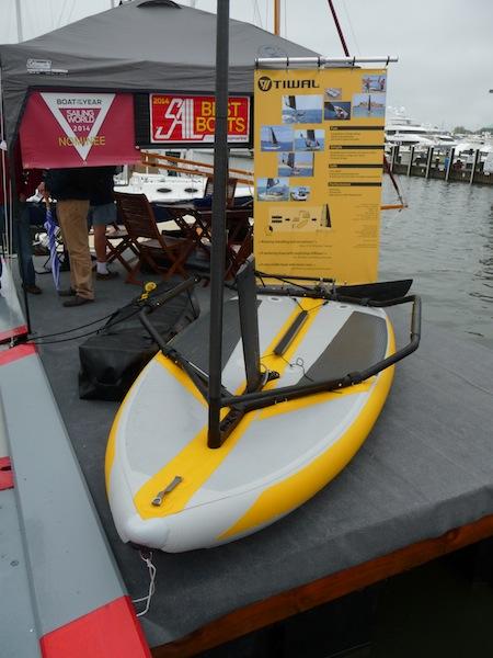 Tiwal inflatable sailboat