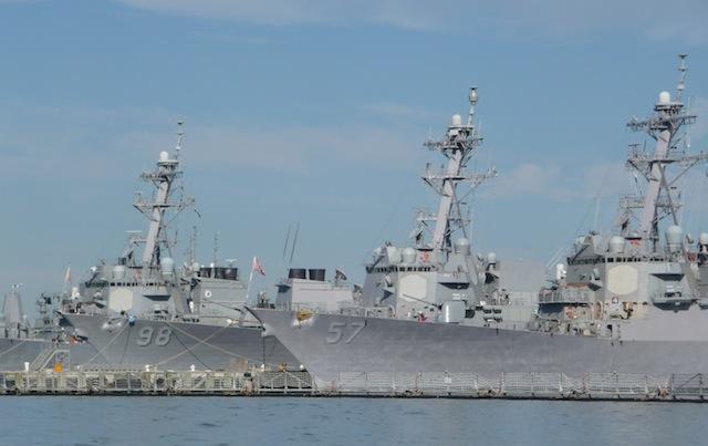 U.S. warships