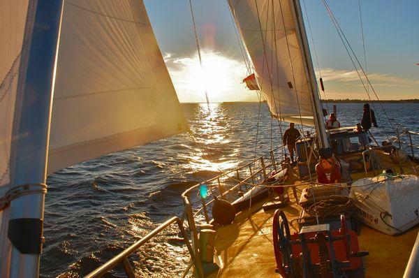 Sailing on Prinses Mia