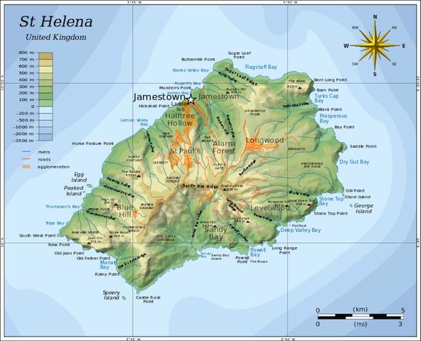 St. Helena map