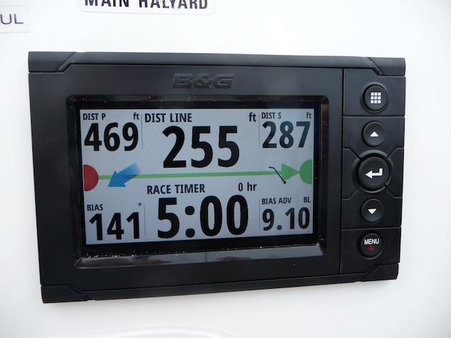 SailSteer start line